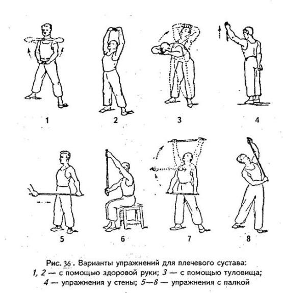 Гимнастика при артрозе плечевого сустава как лечить колено у коровы